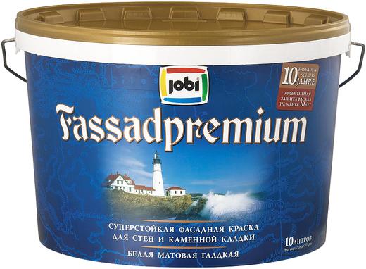 Jobi Fassadpremium суперстойкая фасадная краска для стен и каменной кладки акриловая