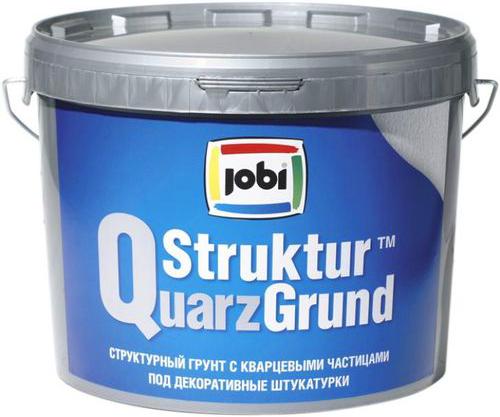Jobi Strukturquarzgrund структурный грунт с кварцевыми частицами под декоративные штукатурки акриловый