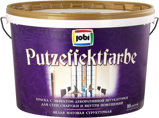 Jobi Putzeffektfarbe краска с эффектом декоративной штукатурки акриловая (10 л) белая морозостойкая