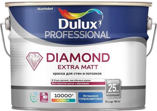 Dulux Trade Diamond Extra Matt износостойкая краска для стен и потолков (10 л) белая