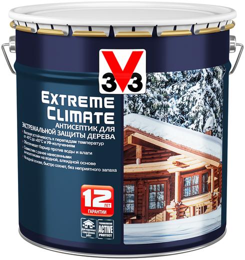 V33 Extreme Climate антисептик для экстремальной защиты дерева (900 мл) белое золото