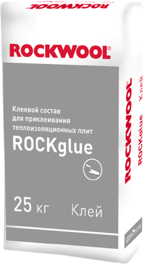 Rockwool Rockglue Optima клеевой состав для приклеивания теплоизоляционных плит (25 кг)