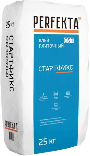 Perfekta Стартфикс клей для керамической плитки и укладки керамогранита на пол (25 кг)