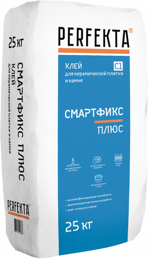 Смартфикс plus для керамической плитки и керамогранита 25 кг