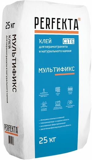 Perfekta Мультификс клей для керамогранита и натурального камня (25 кг) зимний