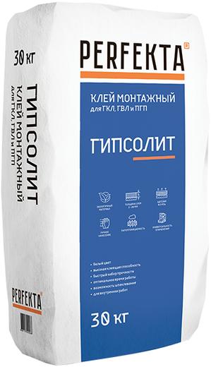 Perfekta Гипсолит клей монтажный гипсовый для ГКЛ, ГВЛ и ПГП (10 кг)
