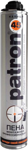 Patron Калибр 45 полиуретановая монтажная пена