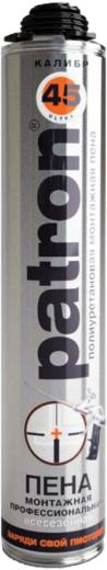 Patron Калибр 45 полиуретановая монтажная пена (750 мл) ручная