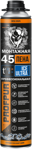 Profpur Ice полиуретановая монтажная пена (750 мл) пистолетная