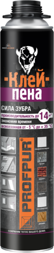 Profpur Сила Зубра клей-пена (750 мл) пистолетная