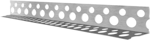 Профиль углозащитный (20 мм*20 мм*3 м) оцинкованный перфорированный