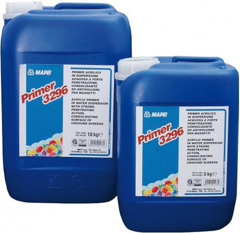 Mapei Primer 3296 акриловая грунтовка в водной дисперсии (10 кг)