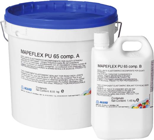 Mapei Mapeflex PU65 двухкомпонентный полиуретановый герметик (8.55 кг) черный
