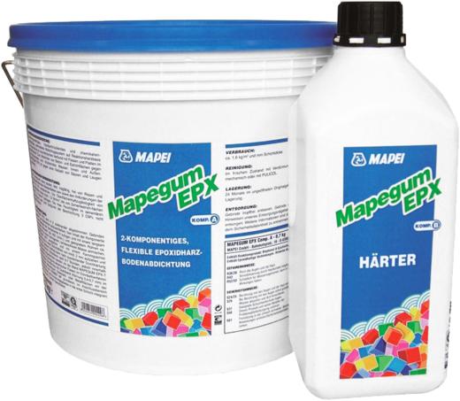 Mapei Mapegum EPX двухкомпонентная эпоксидная мембрана (8.7 кг) серая
