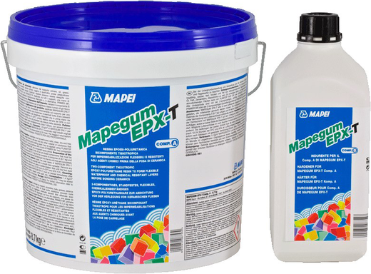 Mapei Mapegum EPX-T двухкомпонентная эпоксидная мембрана для стен (8.7 кг) серая