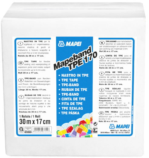 Mapeband tpe термопластичная эластомерная 170 мм*30 м