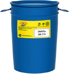 КраскаВо ХВ-714 эмаль двухкомпонентная (полуфабрикат 50 кг) черная гладкая