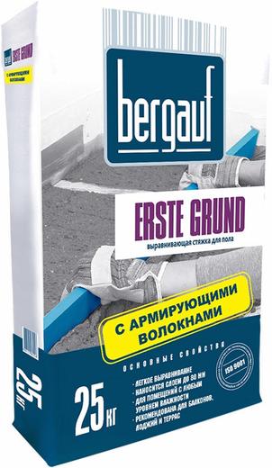 Bergauf Erste Grund выравнивающая стяжка для пола с армирующими волокнами (25 кг)