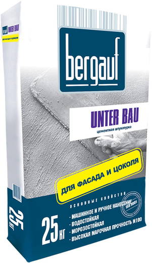 Bergauf Unter Bau цементная штукатурка для фасада и цоколя (25 кг)