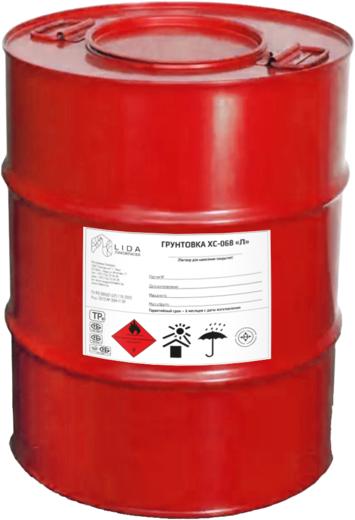 Лакокраска Lida ХС-068 Л грунтовка (40 кг) серая