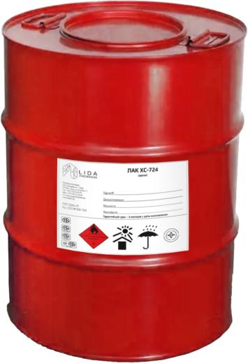 Лакокраска Lida ХС-724 лак химически стойкий (40 кг)