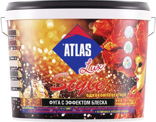 Атлас Lux Style однокомпонентная фуга с эффектом блеска (2 кг) №223 корица