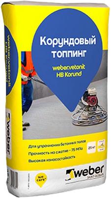 Ветонит Вебер HB Korund корундовый топпинг