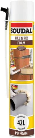 Soudal Fix & Fill Foam монтажная пена (750 мл) пистолетная