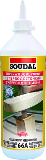 Soudal 66А суперводостойкий полиуретановый клей для дерева (250 мл)