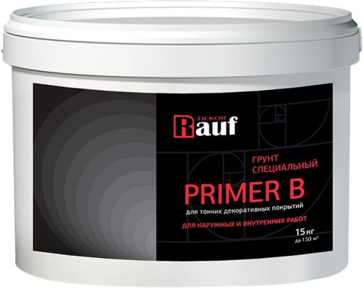 Rauf Dekor Primer B грунт специальный для тонких декоративных покрытий (15 кг)