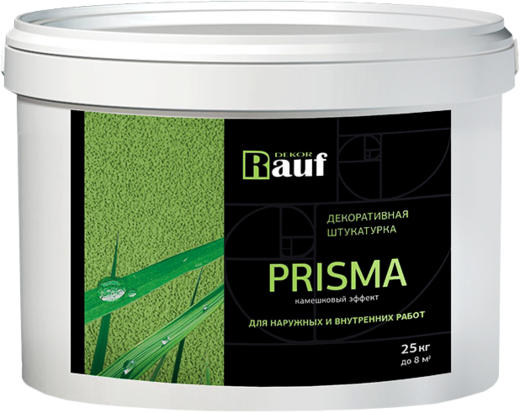 Rauf Dekor Prisma декоративная штукатурка камешковый эффект (25 кг) зерно 2 мм