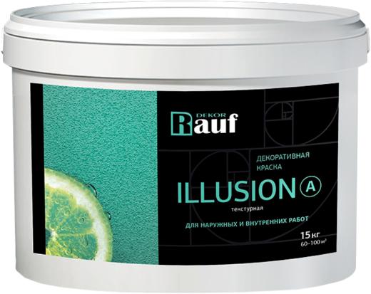 Rauf Dekor Illusion A декоративная краска текстурная (15 кг) белая
