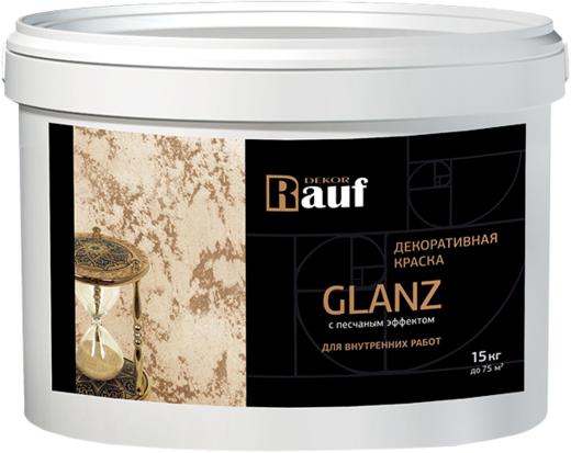 Rauf Dekor Glanz декоративная краска с песчаным эффектом (3.5 кг) белая