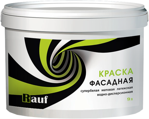 Rauf R 31 краска фасадная латексная водно-дисперсионная (2.5 кг) супербелая
