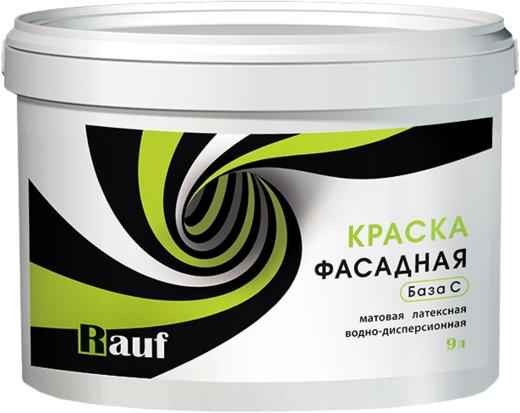 Rauf R 32 краска фасадная латексная водно-дисперсионная (9 кг) бесцветная