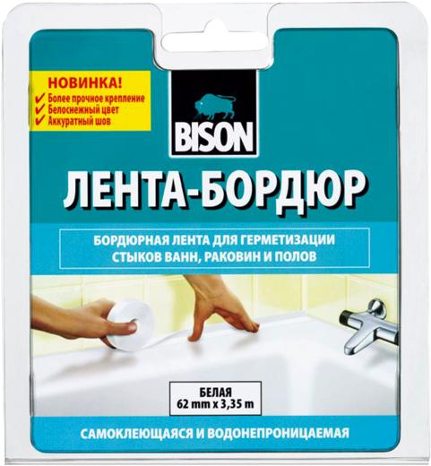 Bison Sealant Strip Sanitary Лента-Бордюр бордюрная лента для герметизации стыков ванн, раковин и полов