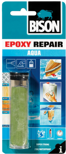 Bison Epoxy Repair Aqua двусоставный эпоксидный клей (56 г)