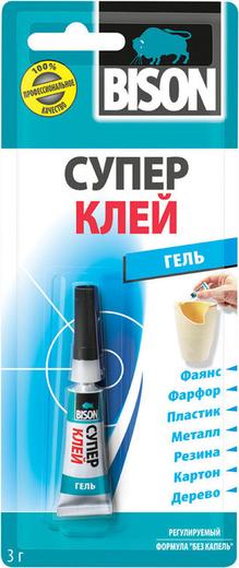 Bison Super Glue Gel универсальный клей-гель (3 г)