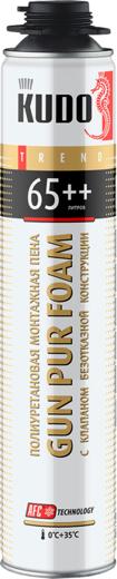 Kudo Trend Gun Pur Foam 65++ полиуретановая монтажная пена