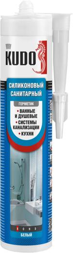 Kudo герметик силиконовый санитарный (280 мл) белый