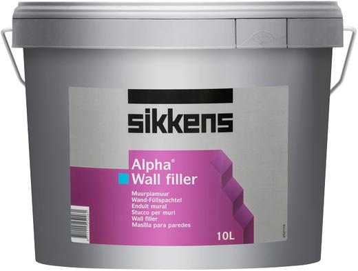 Sikkens Wood Coatings Alpha Wall Filler финишная шпатлевка для стен на основе водной эмульсии (5 л)