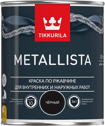 Тиккурила Металлиста краска по ржавчине для внутренних и наружных работ (2.5 л) белая