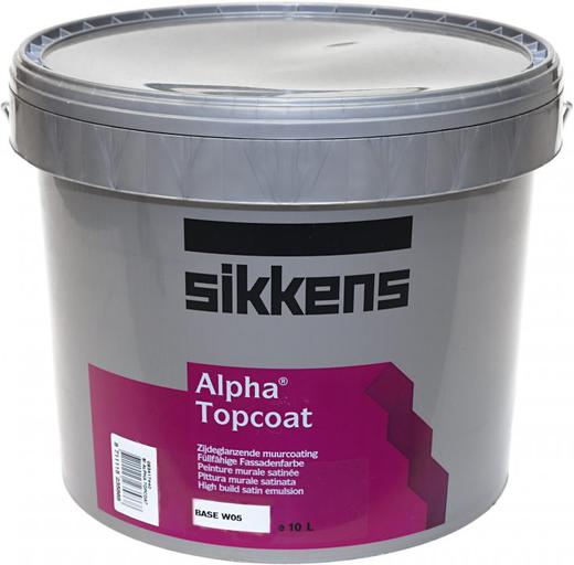 Sikkens Wood Coatings Alpha Topcoat финишная краска для покраски Alphacoat (10 л) белая