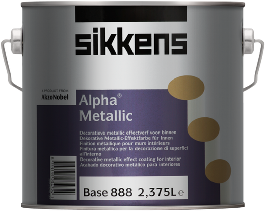 Sikkens Wood Coatings Alpha Metallic декоративная краска с металлическим эффектом (2.375 л) серебристая перламутровый металлик