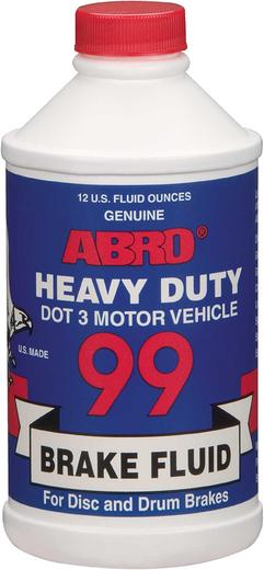 Abro Brake Fluid Heavy Duty Dot 3 жидкость тормозная (354 мл)
