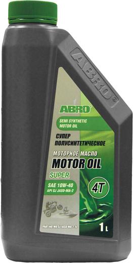 Abro Motor Oil Super 4T супер полусинтетическое моторное масло для четырехтактных двигателей