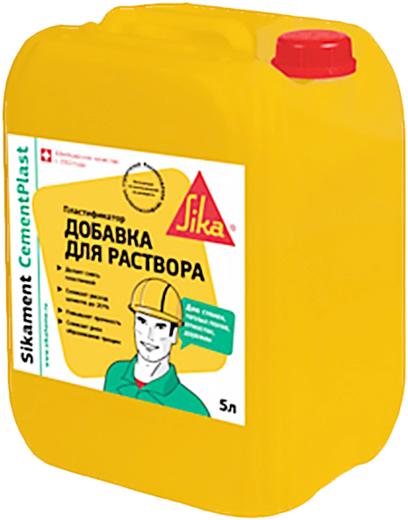 Sika Sikament Cementplast пластификатор добавка для раствора (5 л)