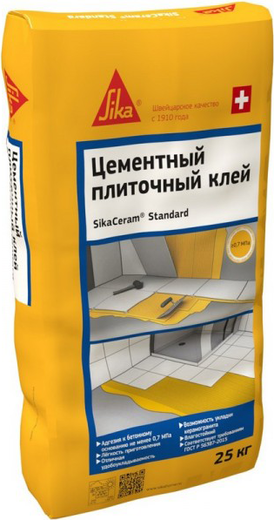 Sika Sikaceram Standard цементный плиточный клей (25 кг)