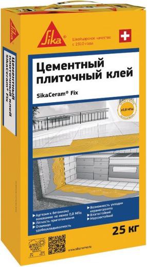 Sika Sikaceram Fix цементный плиточный клей (25 кг)