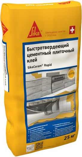 Sika Sikaceram Rapid быстротвердеющий цементный плиточный клей (25 кг)